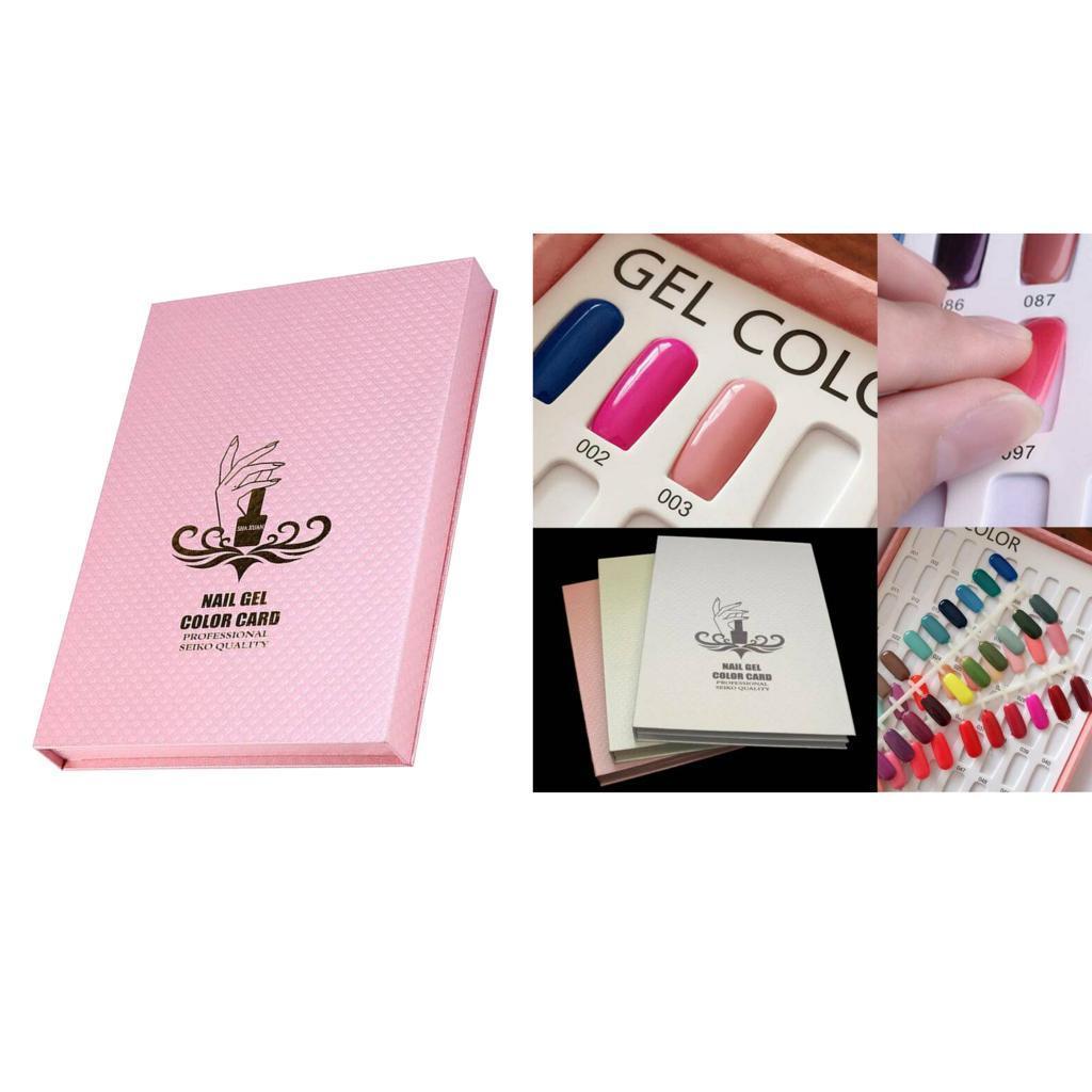 Manicure-di-Arte-Del-120-Smalto-Del-Gel-Carta-di-Colore-Grafico-di miniatura 5