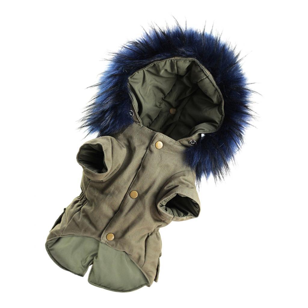 Elegant-Dog-Coat-Woolen-Fur-Collar-Puppy-Pet-Clothes-Winter-Warm-Jacket thumbnail 18