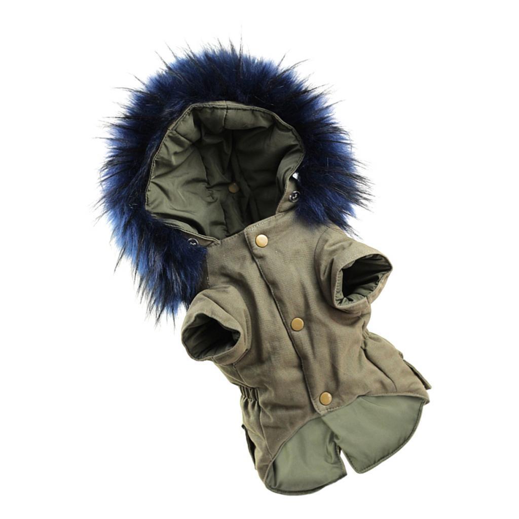 Elegant-Dog-Coat-Woolen-Fur-Collar-Puppy-Pet-Clothes-Winter-Warm-Jacket thumbnail 20