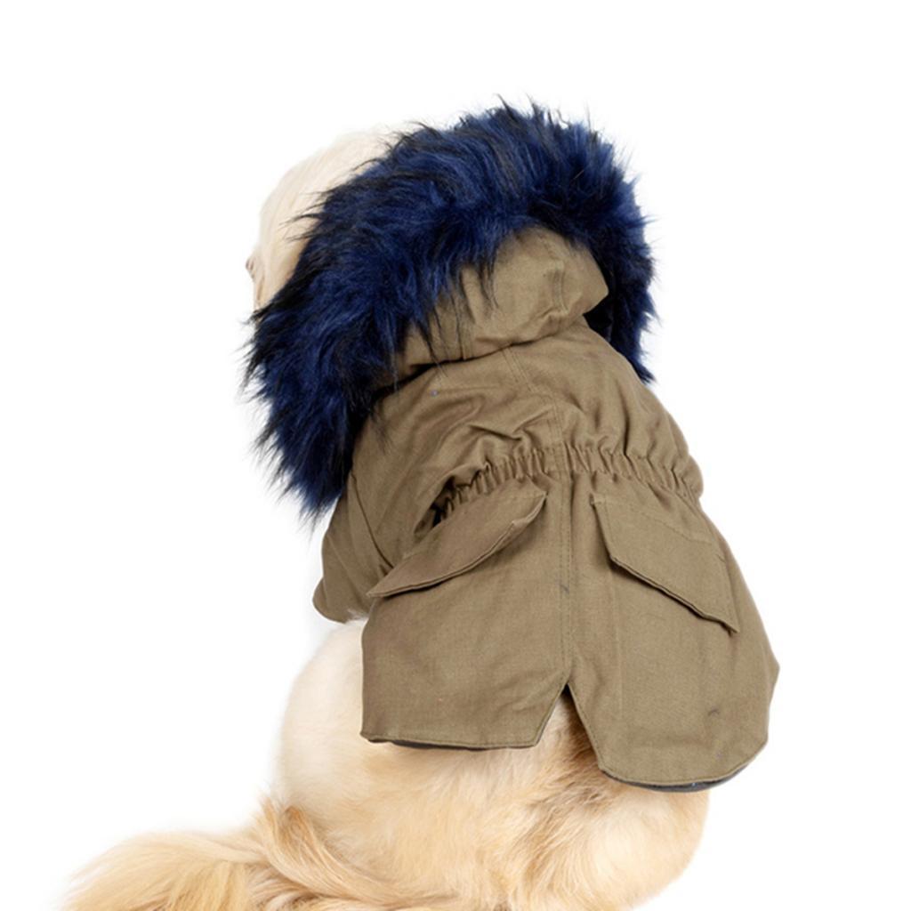 Elegant-Dog-Coat-Woolen-Fur-Collar-Puppy-Pet-Clothes-Winter-Warm-Jacket thumbnail 21