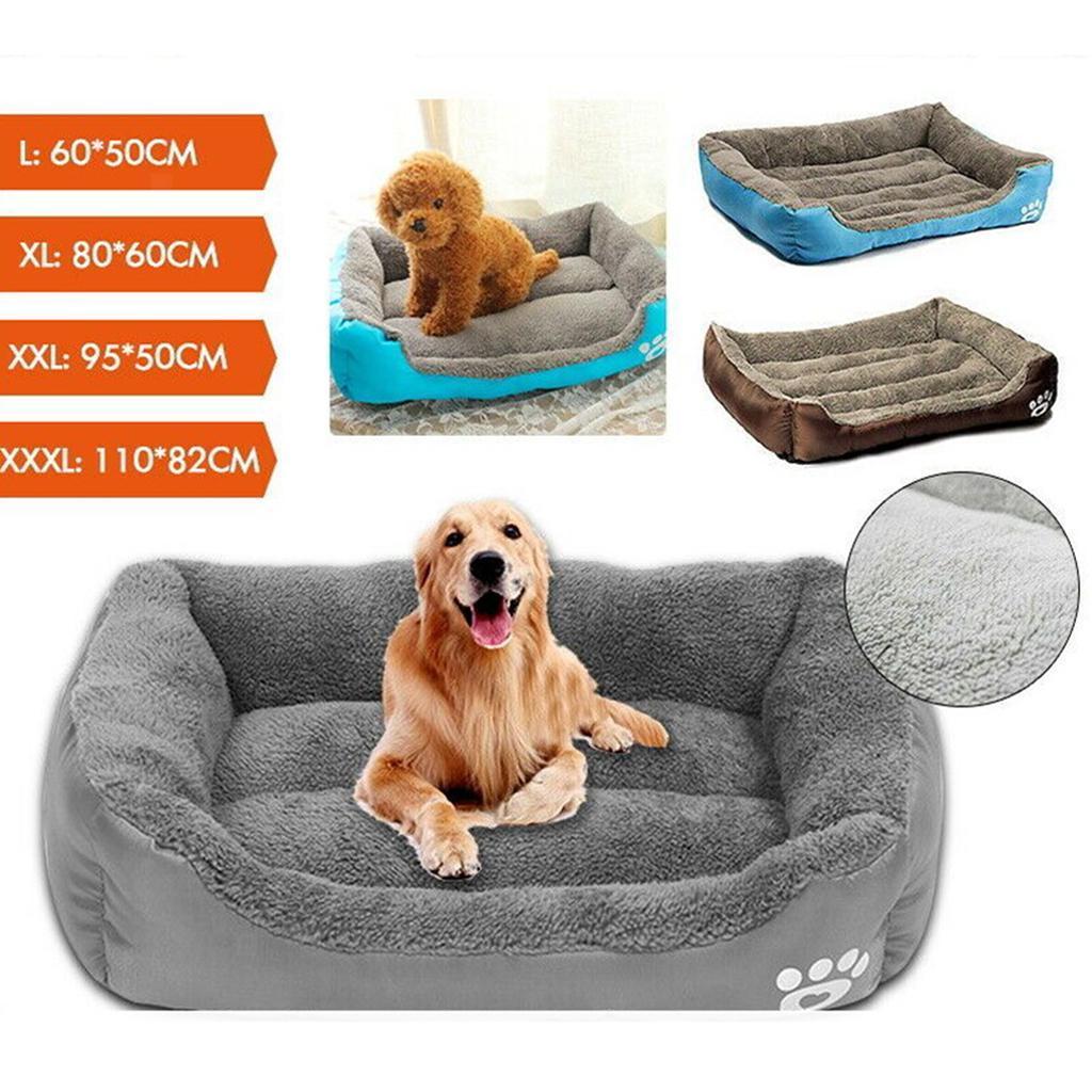 miniature 15 - Doux en peluche lit pour animaux de compagnie chien chat coussin de couchage