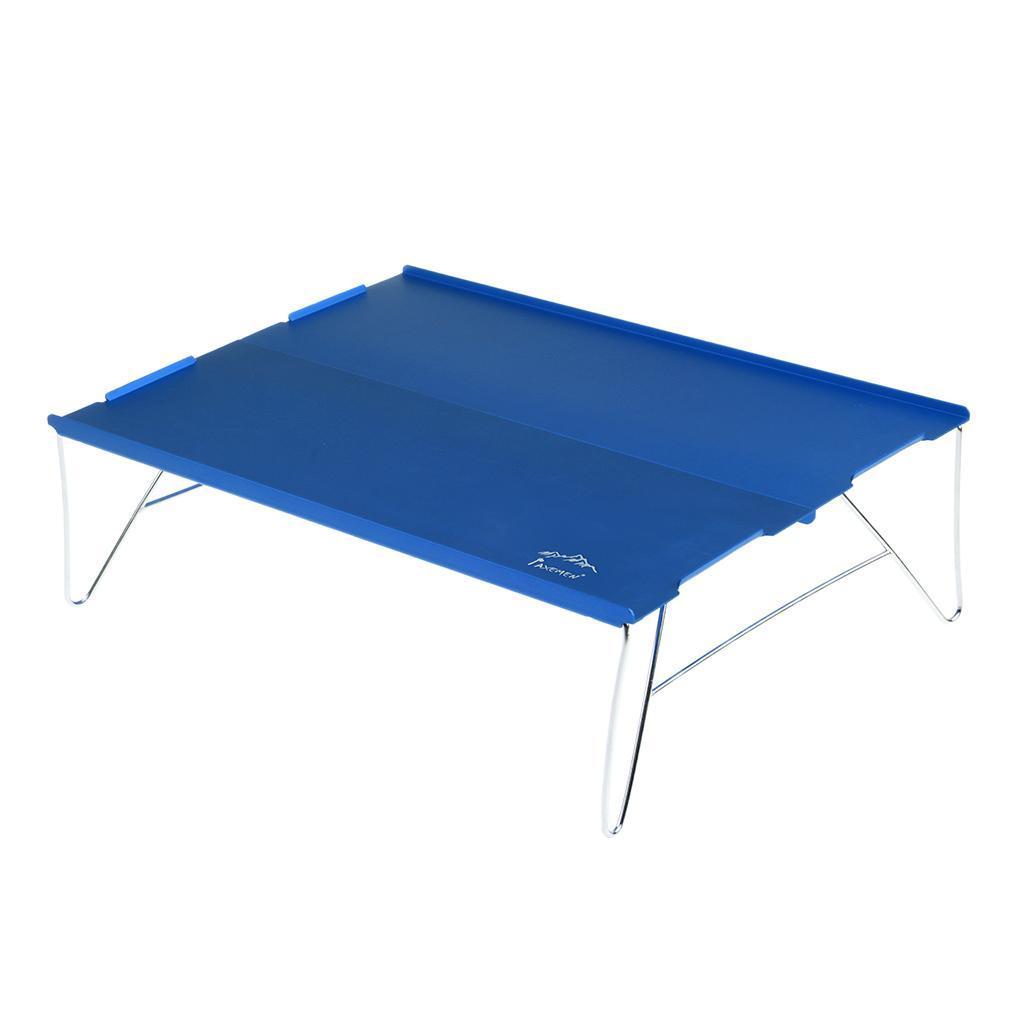 miniatura 7 - Tavolo da campeggio pieghevole da viaggio portatile ultraleggero in alluminio +