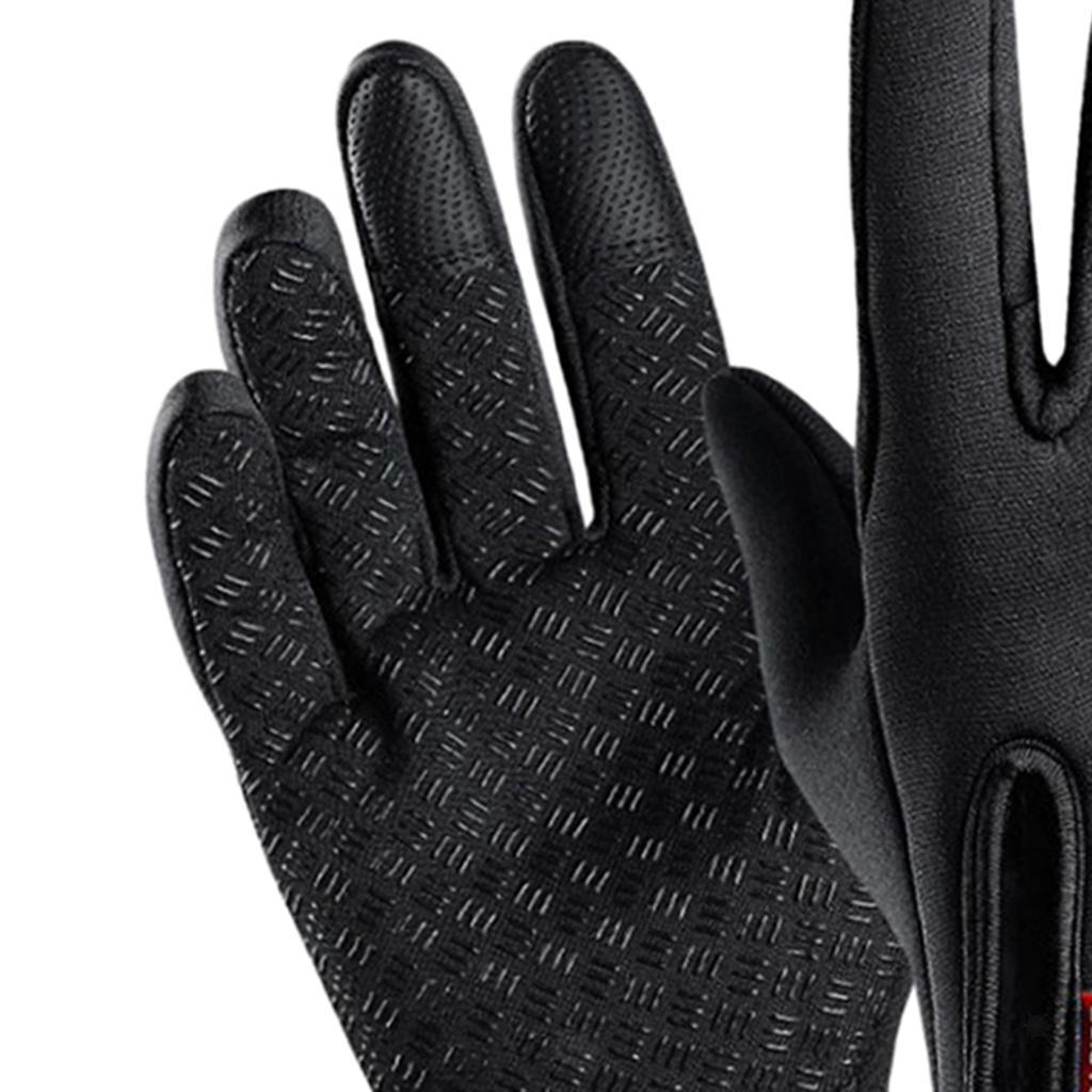 Hiver-chaud-plein-doigts-doigts-ecran-tactile-gants-d-039-entrainement-velo miniature 3