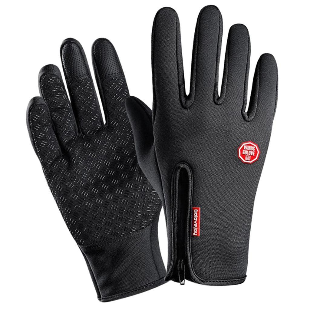 Hiver-chaud-plein-doigts-doigts-ecran-tactile-gants-d-039-entrainement-velo miniature 4