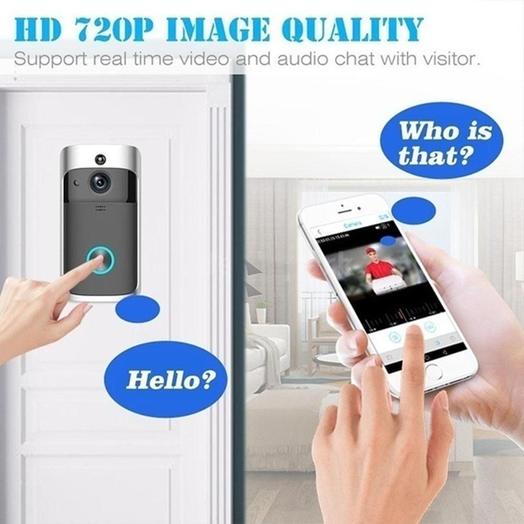 Wireless Doorbell Phone Door Ring Intercom IR Security ...