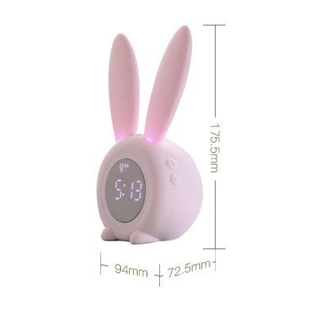 Snooze-Alarm-Clock-Luce-di-Notte-Termometro-Per-Bambini-Bambini-Svegli-Del miniatura 6