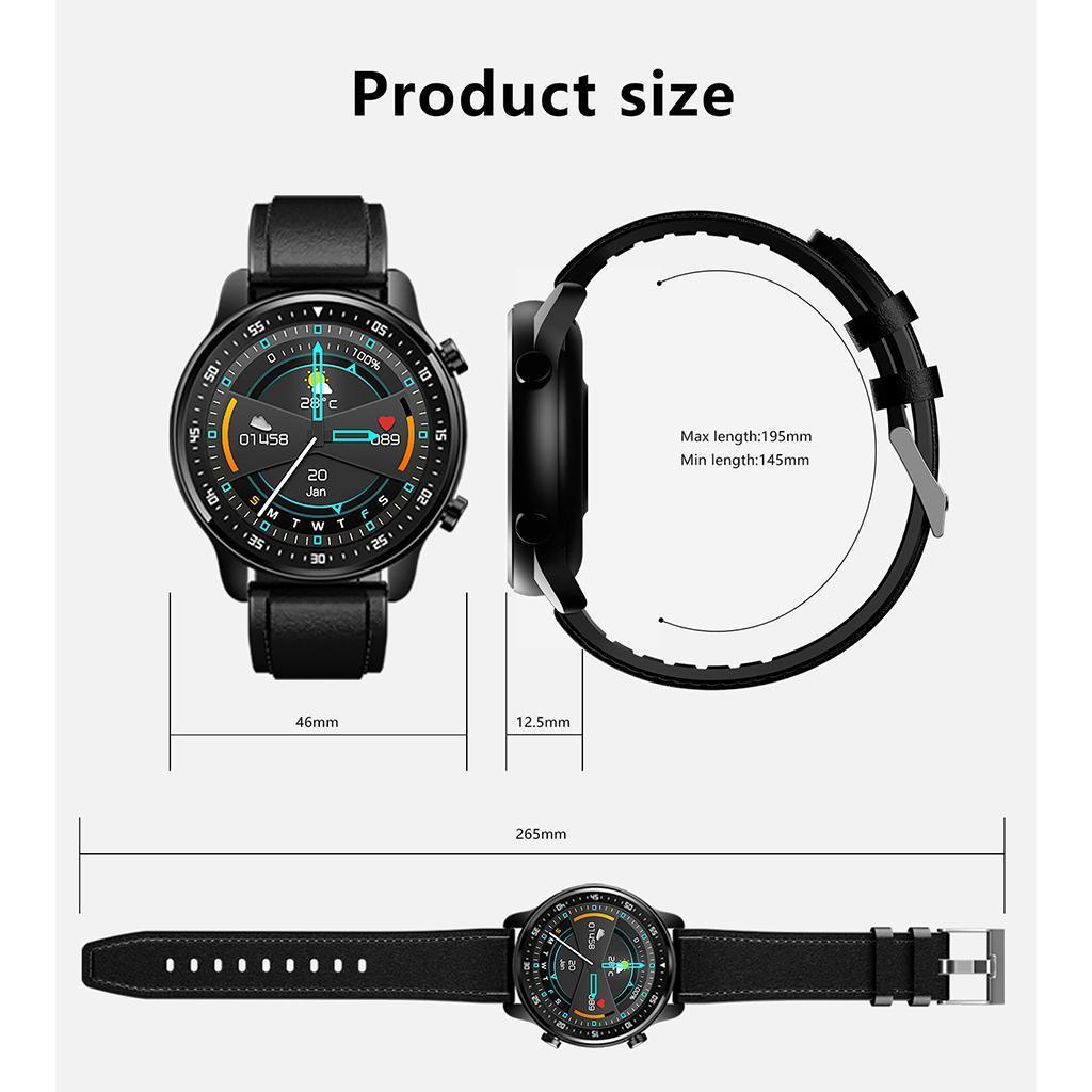 Chiamata Bluetooth Smartwatch Monitor della pressione..