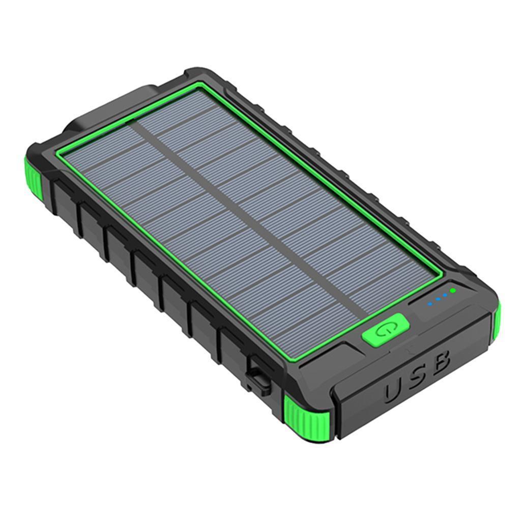 miniatura 12 - 10000mAh Solar Power Bank Cargador de batería de prueba de puerto USB 2
