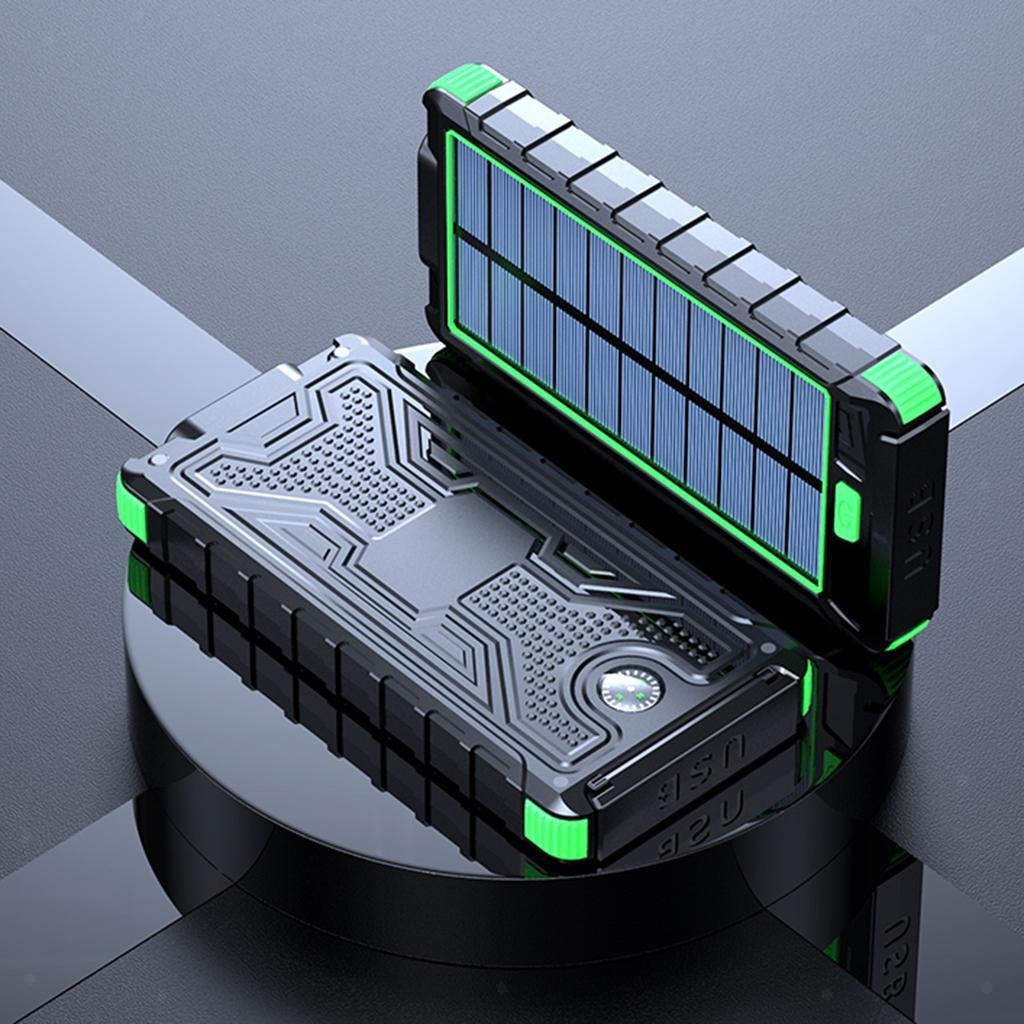 miniatura 13 - 10000mAh Solar Power Bank Cargador de batería de prueba de puerto USB 2