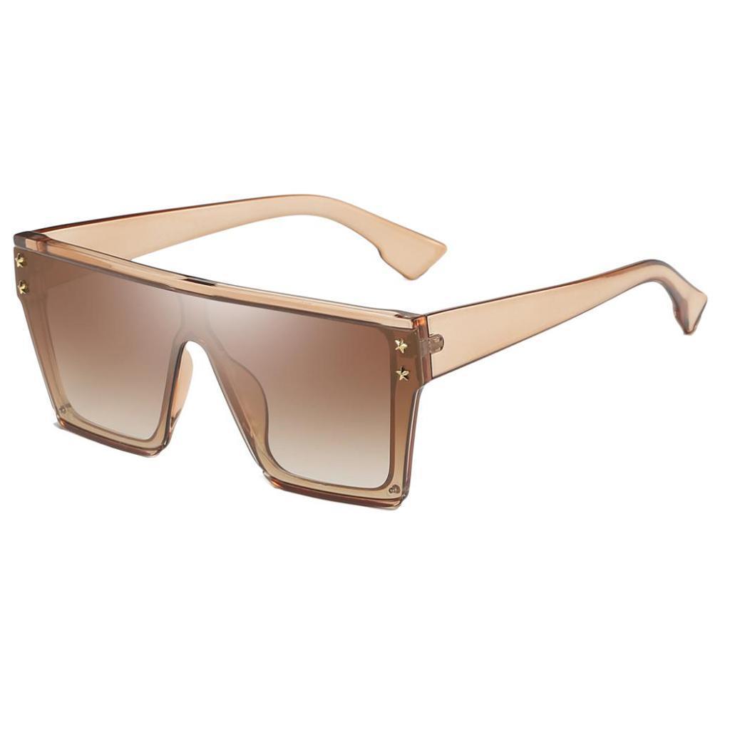 Square-Oversize-Sonnenbrillen-Fashion-Flat-Top-UV400-Sonnenbrille-fuer Indexbild 12