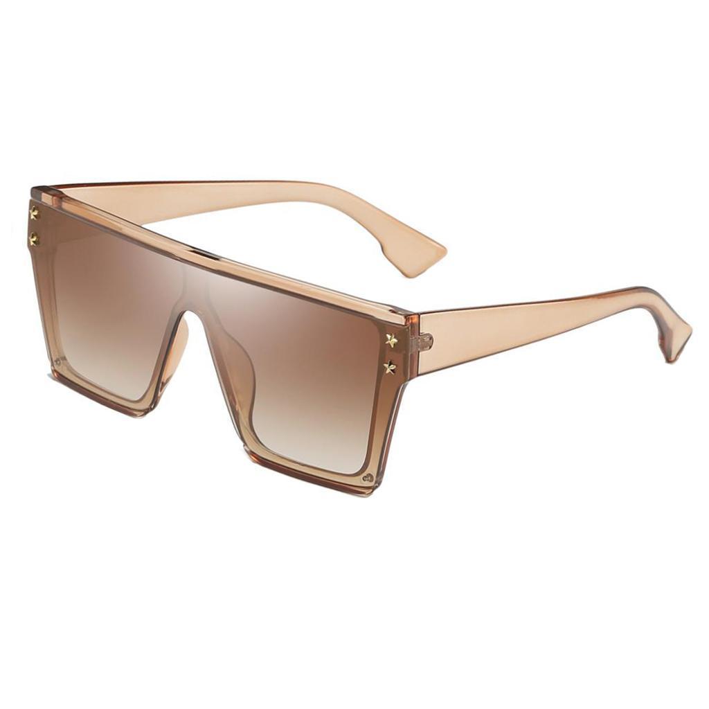 Square-Oversize-Sonnenbrillen-Fashion-Flat-Top-UV400-Sonnenbrille-fuer Indexbild 13