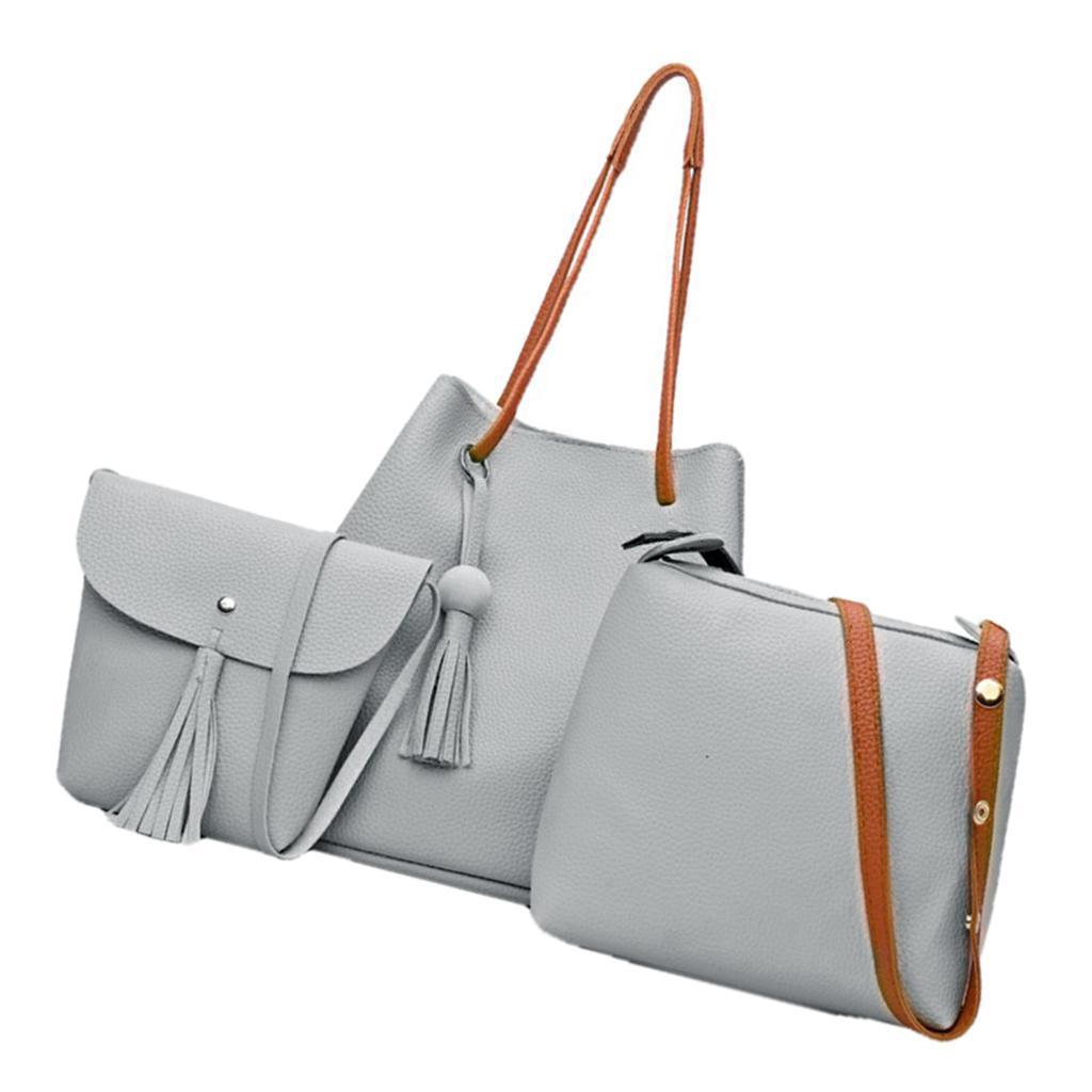 4Damen-Handtasche-mit-Perlenanhaenger-Elegant-Taschen-Shopper-Schultertasche Indexbild 15
