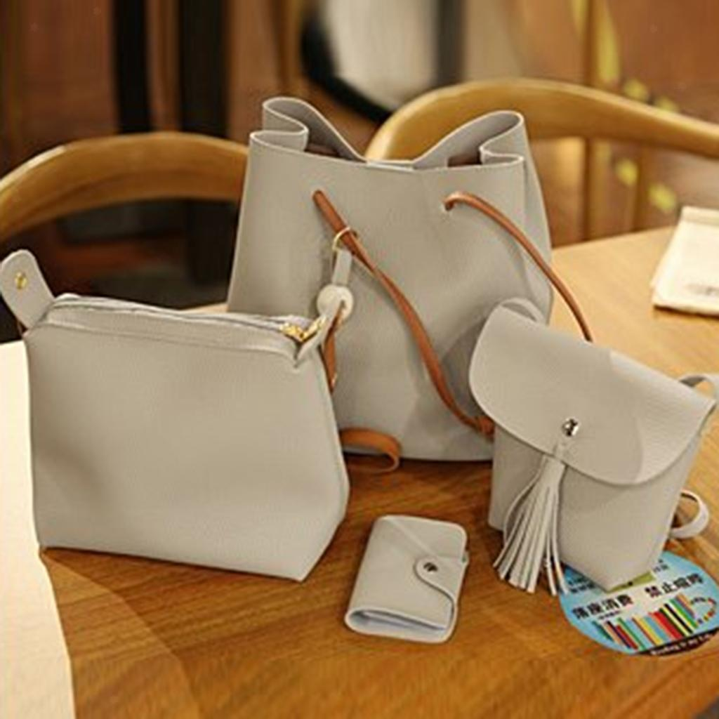 4Damen-Handtasche-mit-Perlenanhaenger-Elegant-Taschen-Shopper-Schultertasche Indexbild 16