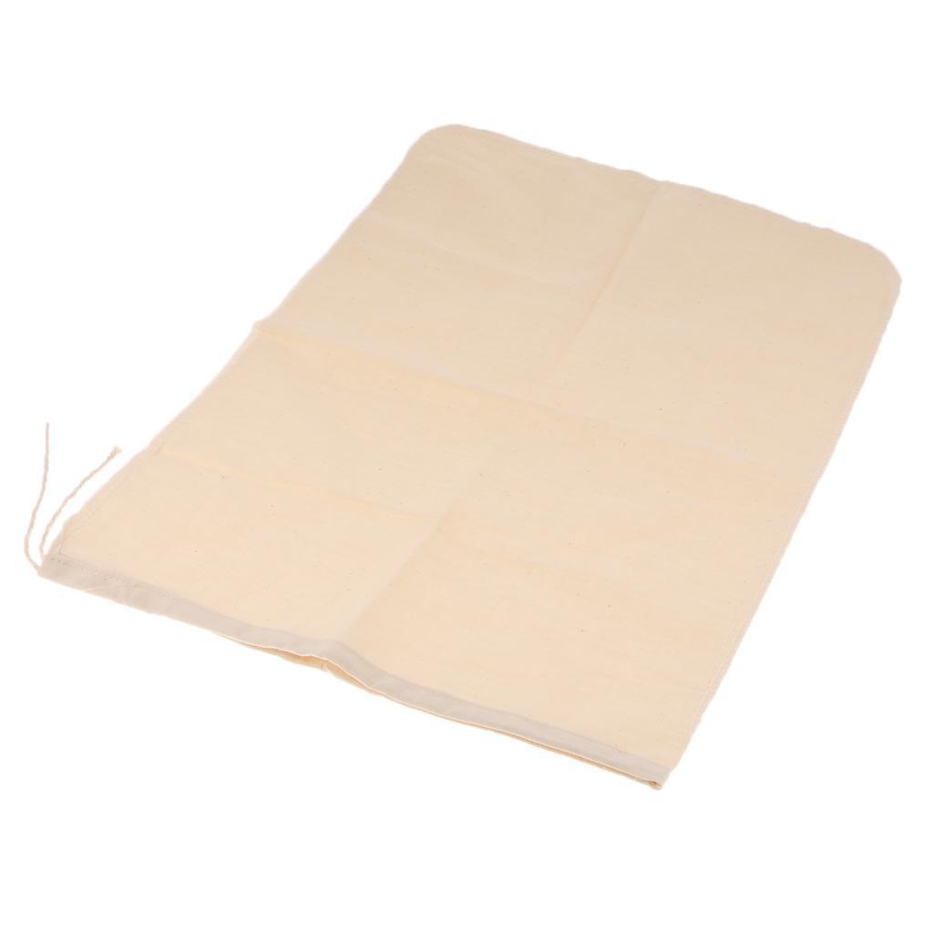 2 Pcs Milk Coffee Juice Reusable Cotton Mesh Strainer Filter Bag  30x45cm