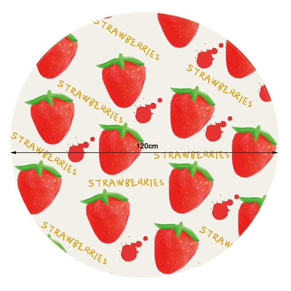 Round-Tablecloth-Table-Cover-Dining-Party-Supplies-1-2m-Dia-Strawberry thumbnail 4