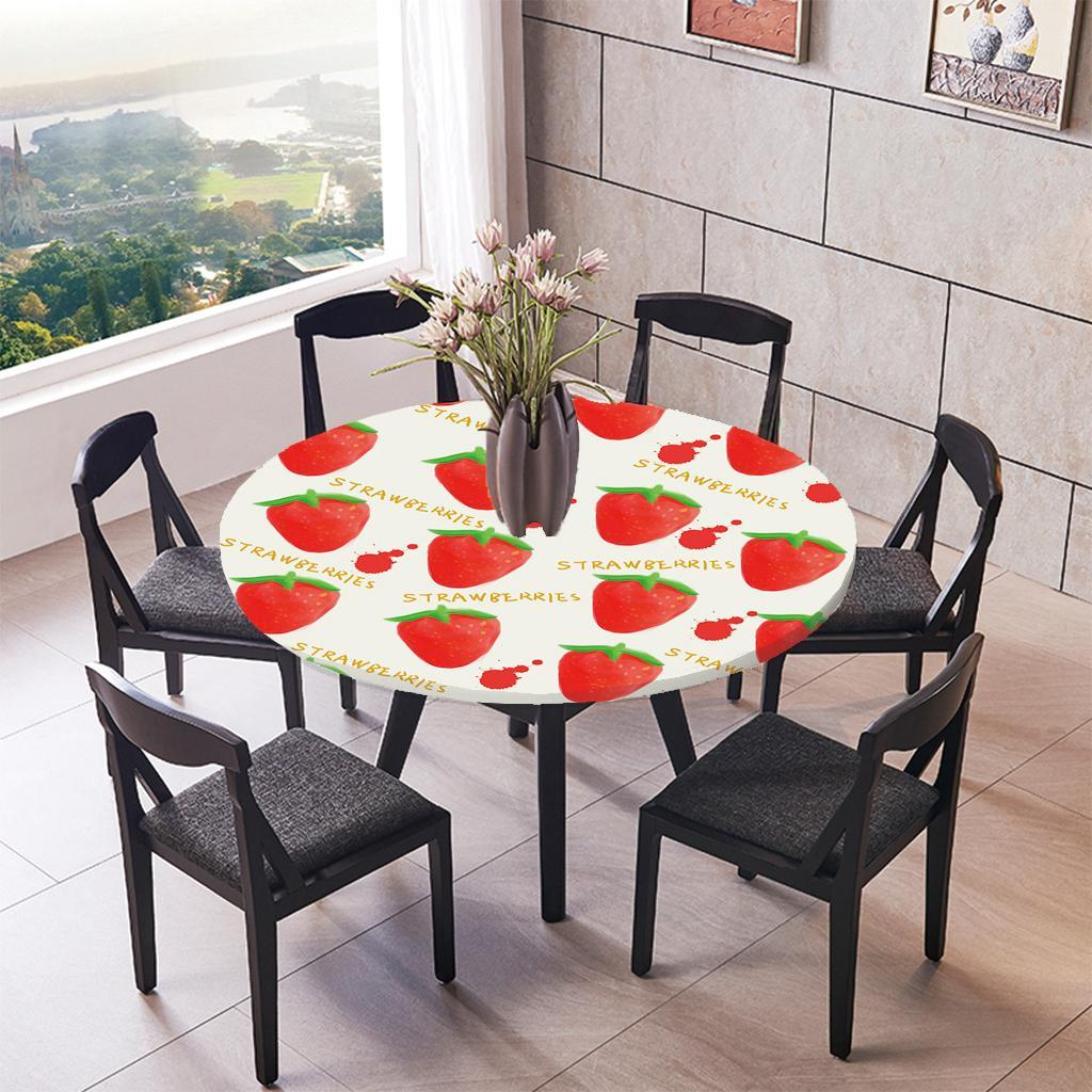 Round-Tablecloth-Table-Cover-Dining-Party-Supplies-1-2m-Dia-Strawberry thumbnail 3