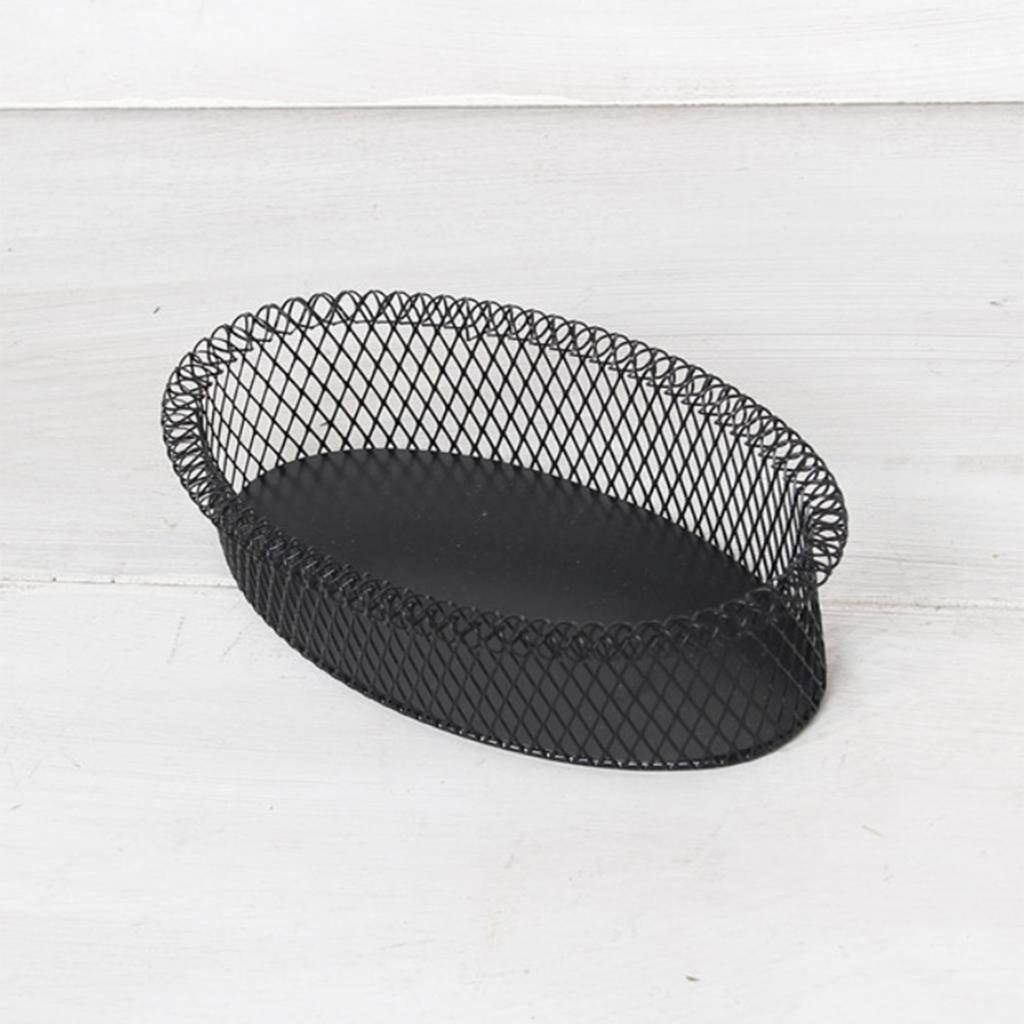 Metal-Wire-Fruit-Basket-Bowl-for-Living-Room-Kitchen-Countertop-Black thumbnail 7