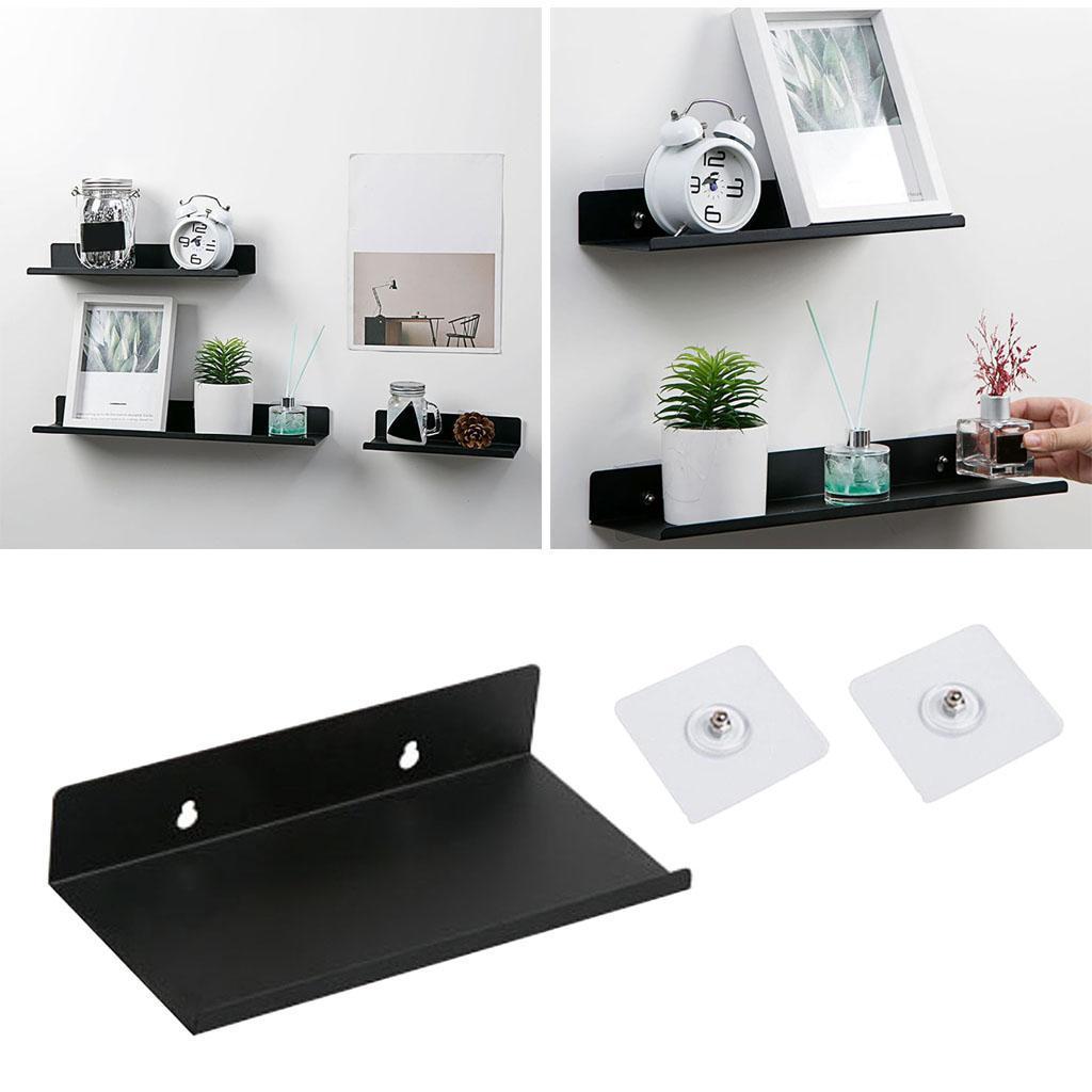 miniatura 4 - In Acciaio al carbonio Mensola Mobile per la Casa Dell'organizzatore