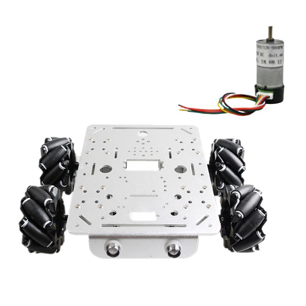 Omni-Directional-4WD-Car-Chassis-Smart-Robot-Car-Chasis-for-Mecanum-Kits thumbnail 12