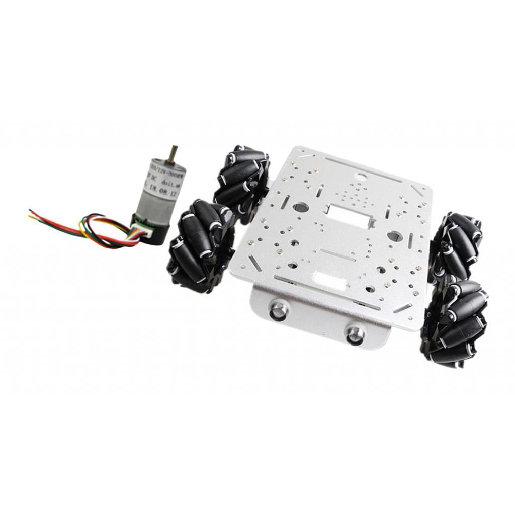 Omni-Directional-4WD-Car-Chassis-Smart-Robot-Car-Chasis-for-Mecanum-Kits thumbnail 13