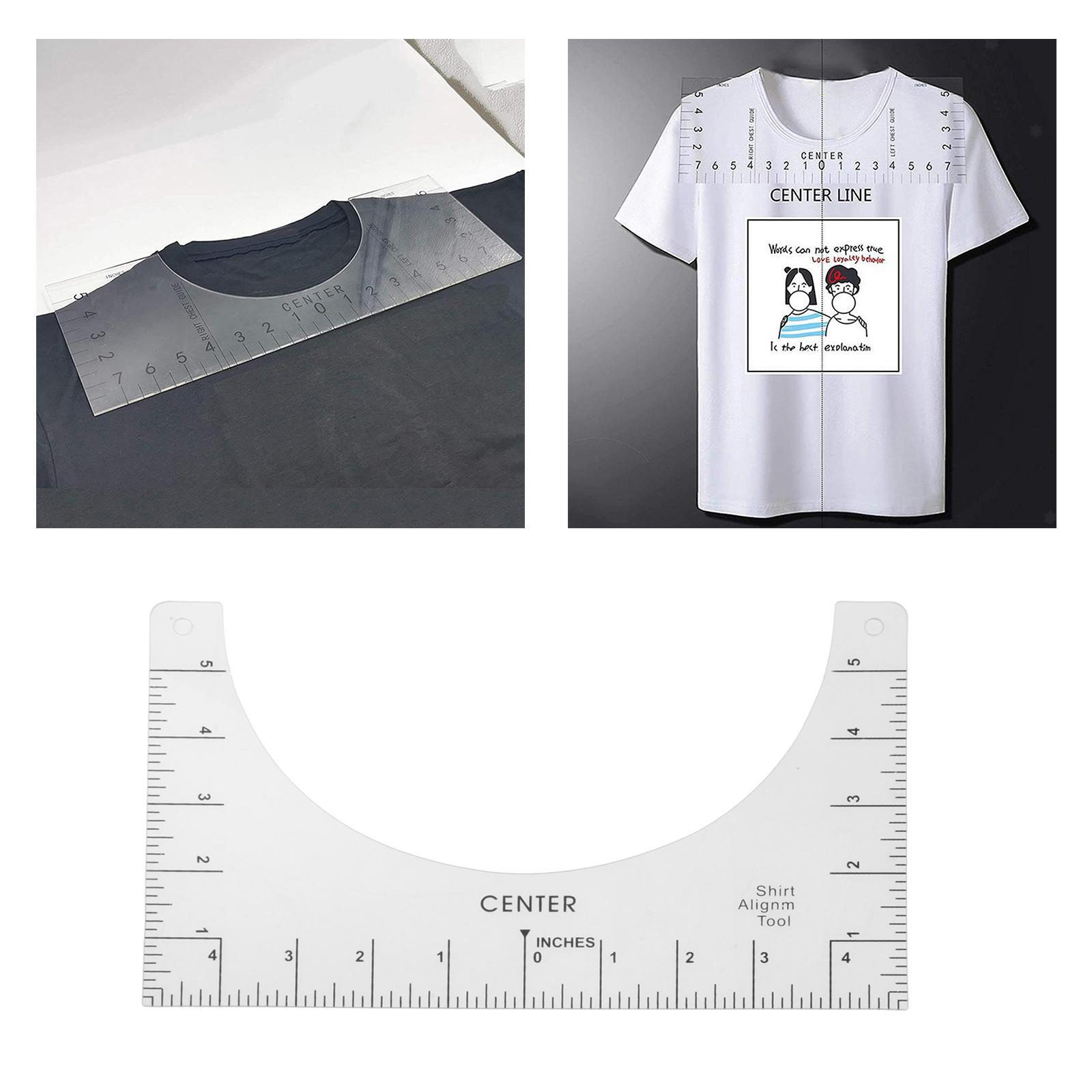 HTV Alignment for Vinyl Press and Sublimation on Shirts Mity rain T-Shirt Alignment Tool T Shirt Ruler to Center Designs