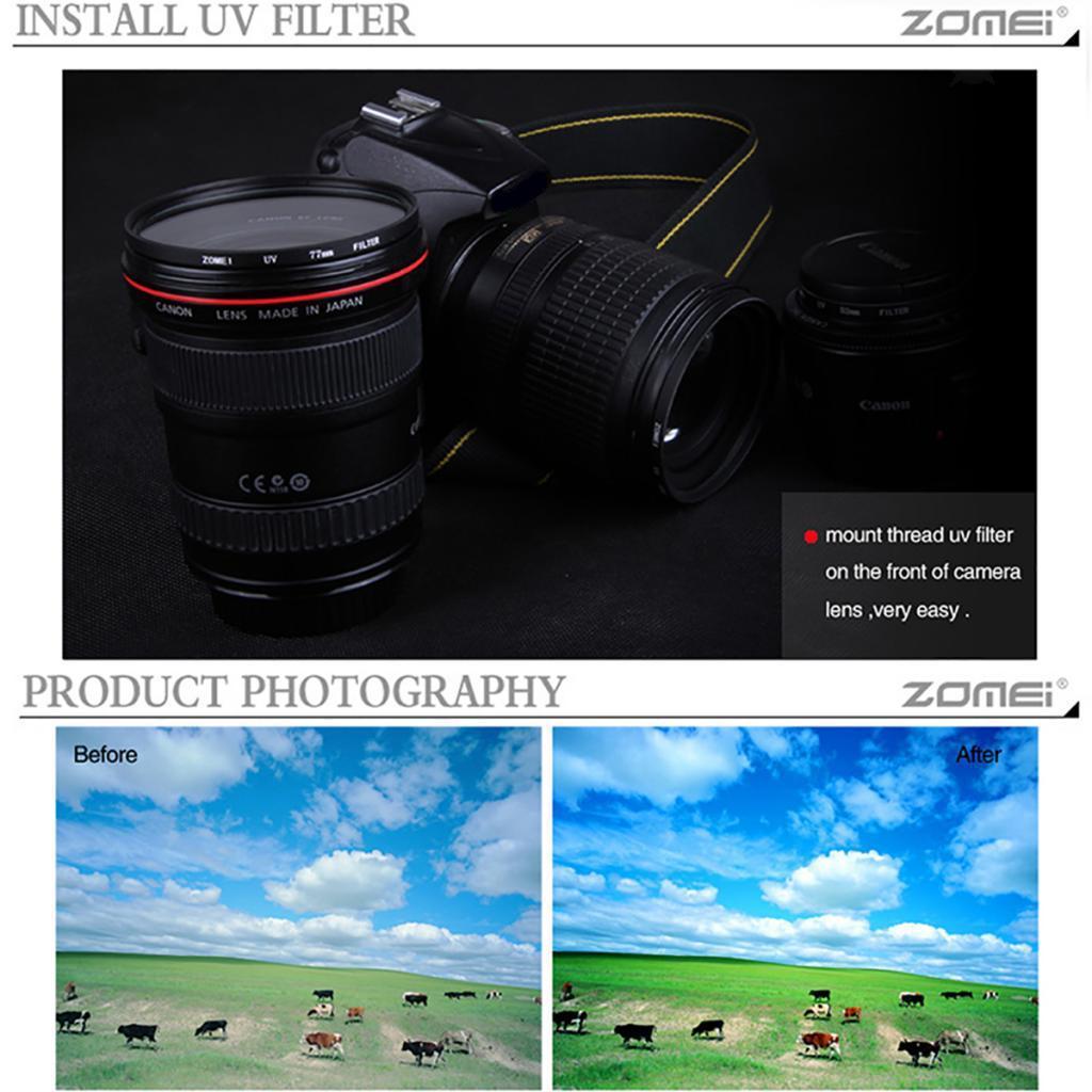 Digital-Ultra-Violet-Filter-Super-Slim-UV-Filter-for-Universal-Camera-Lens thumbnail 6