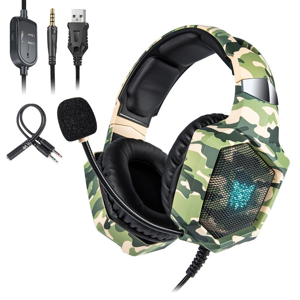 K1-B-Wired-3-5mm-Gaming-Camouflage-Headset-For-PS4-PC-Tablet-Mobile-Phone thumbnail 12