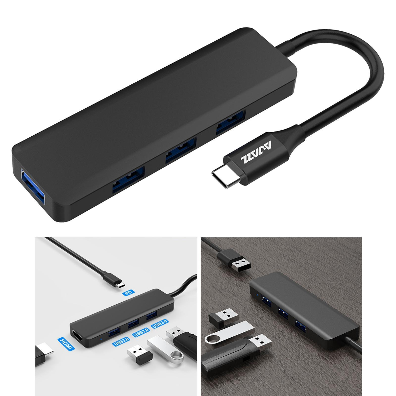 Multi-dans-1-type-C-Portable-Docking-station-USB-3-0-HDMI-PD-invite-Hub-pour-Macbook miniature 64