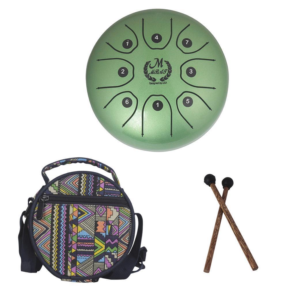5-5-Tongue-Drum-C-Tune-8-Notes-Steel-w-Drumstick-Storage-Bag-7-Colors thumbnail 21