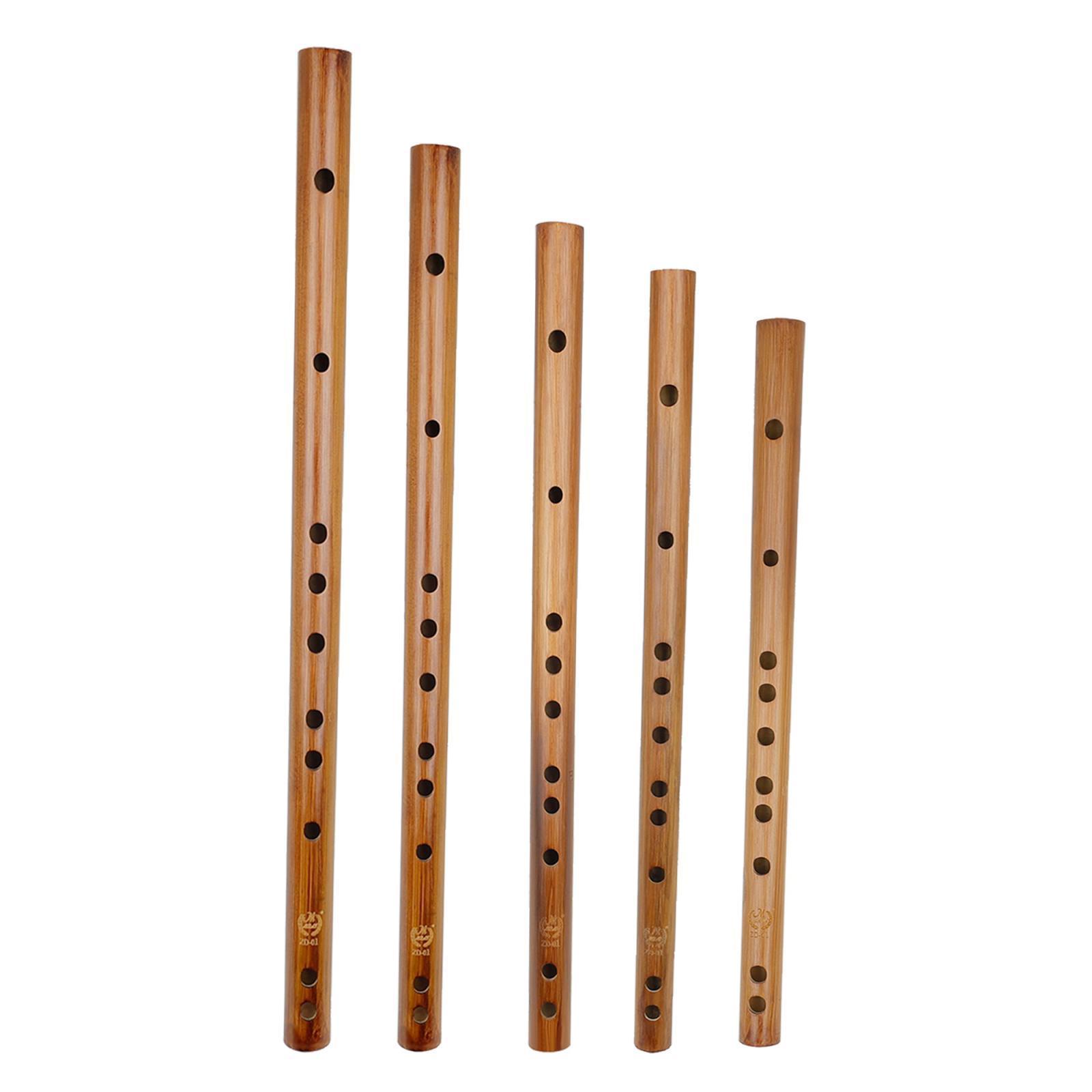miniatura 9 - Unico-Indiano-di-Legno-Flauto-Strumento-Musicale-Registratore-Bansuri-Regalo