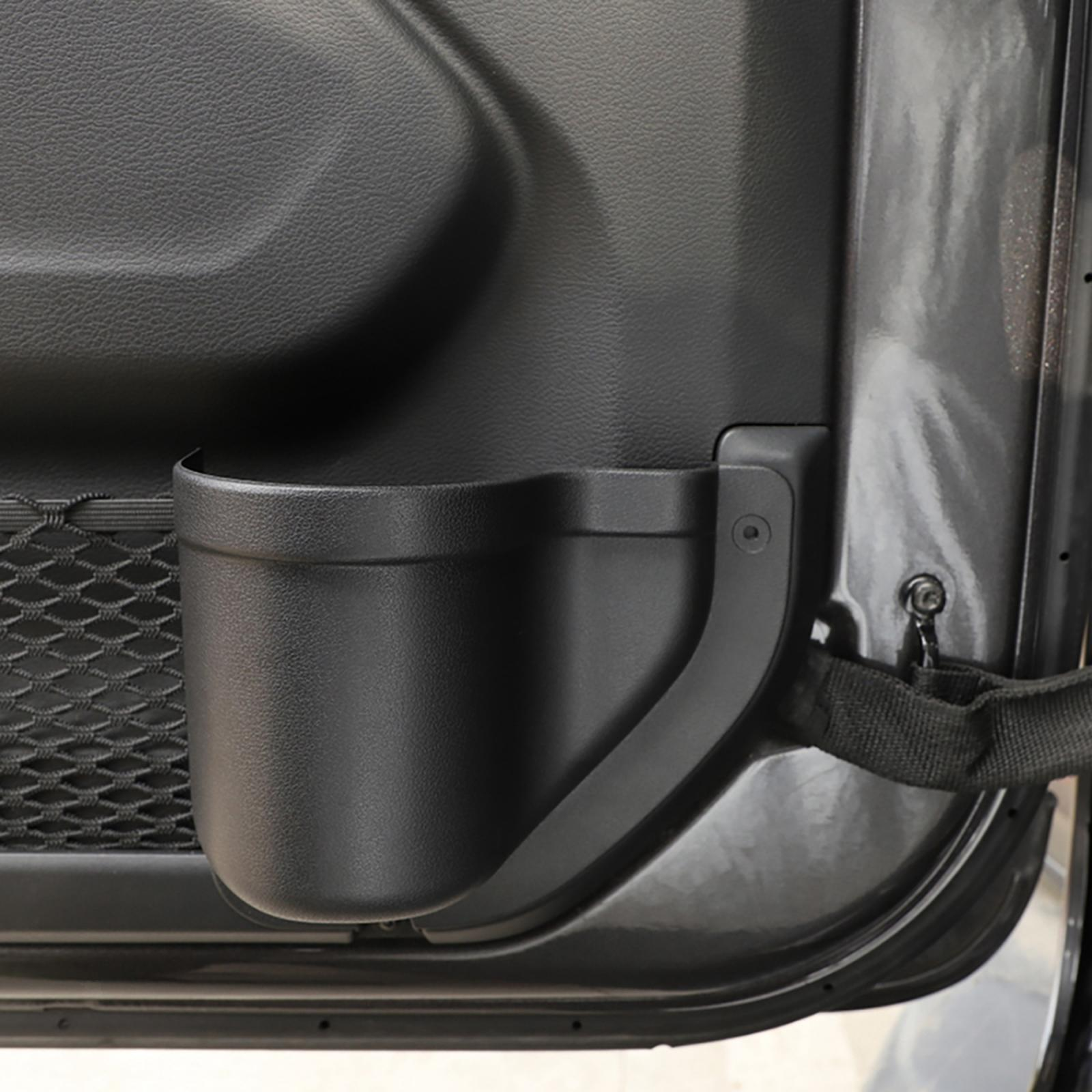 thumbnail 7 - ABS Door Storage Organizer Phone Holder for Jeep Wrangler JL 2018-2020 Black
