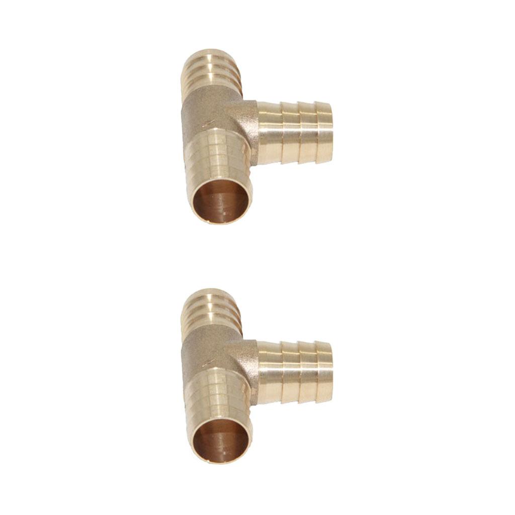 S2x-Messing-T-Stue-Verbindungsstue-T-Joiner-Barb-Schlauchfittings-T Indexbild 3