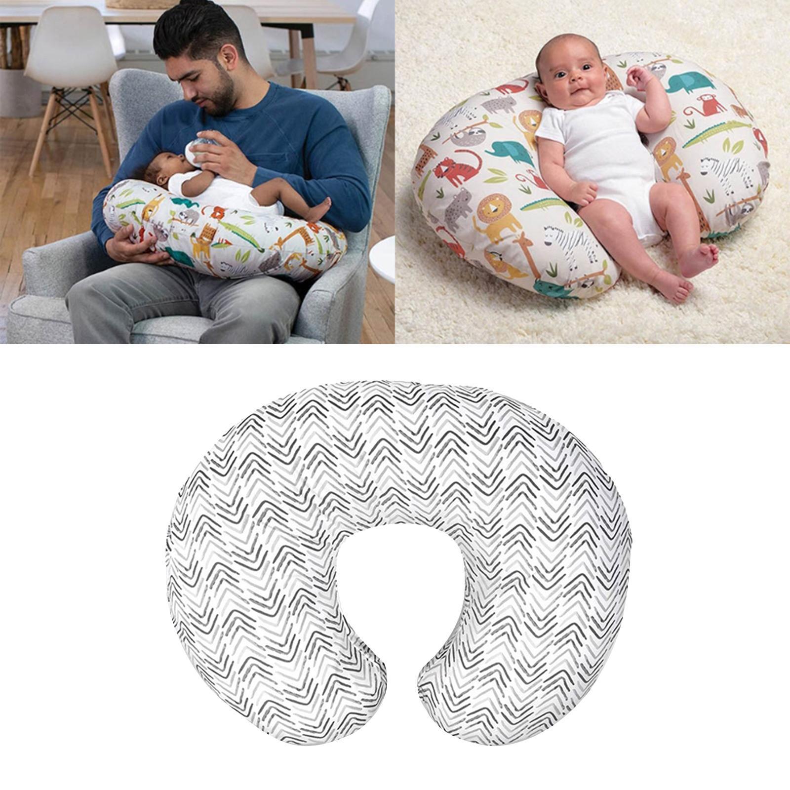 miniatura 5 - A Forma di U Del Bambino Cuscino Allattamento Cuscini di Cura per il Neonato
