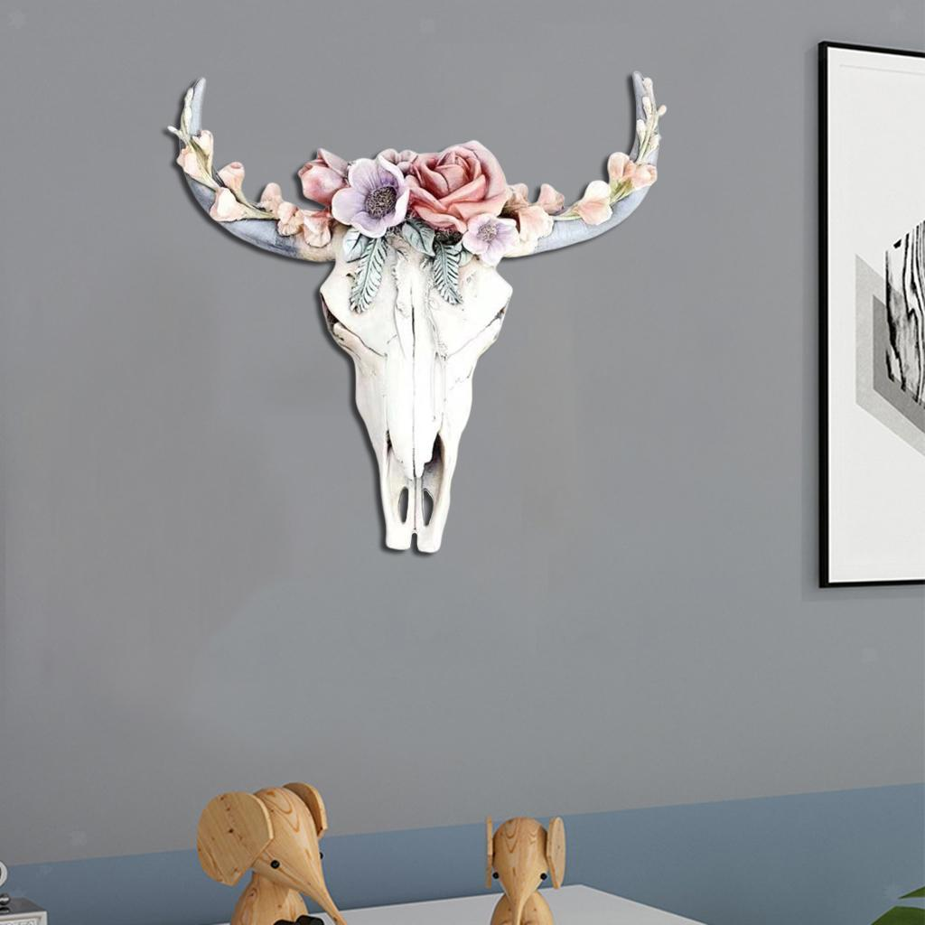 miniatura 28 - Longhorn Appeso A Parete Scultura Vivid Testa di Animale Opere D'arte