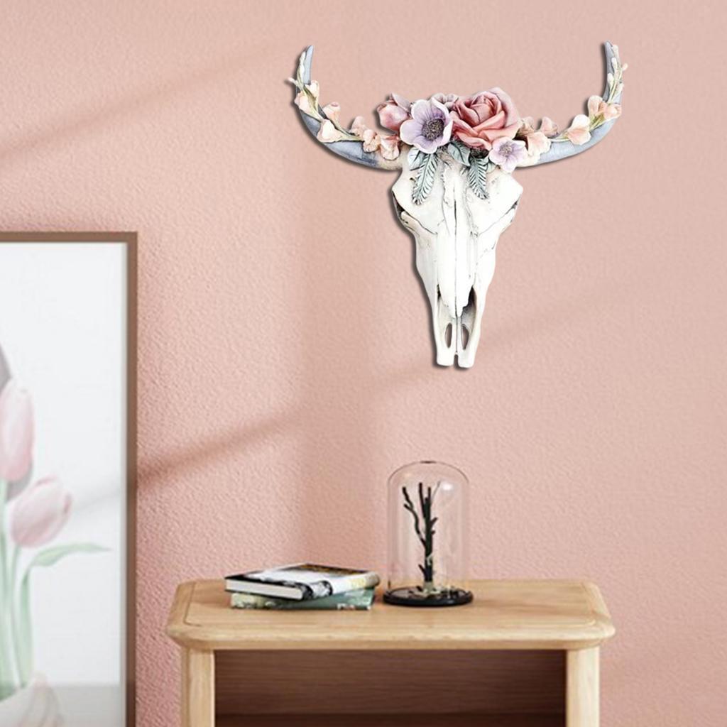 miniatura 30 - Longhorn Appeso A Parete Scultura Vivid Testa di Animale Opere D'arte