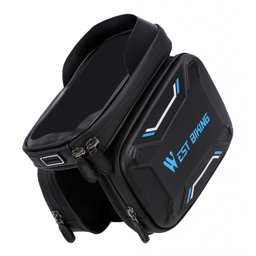 Bicycle-Front-Beam-Bag-Waterproof-Mountain-Bike-Saddle-Bag-Phone-Case-Pouch thumbnail 28
