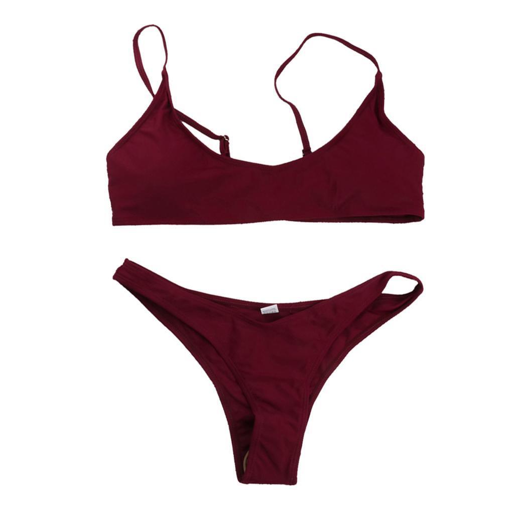 Damen-Bademode-Push-Up-Bikini-Set-Zweiteiliger-Badeanzug Indexbild 5