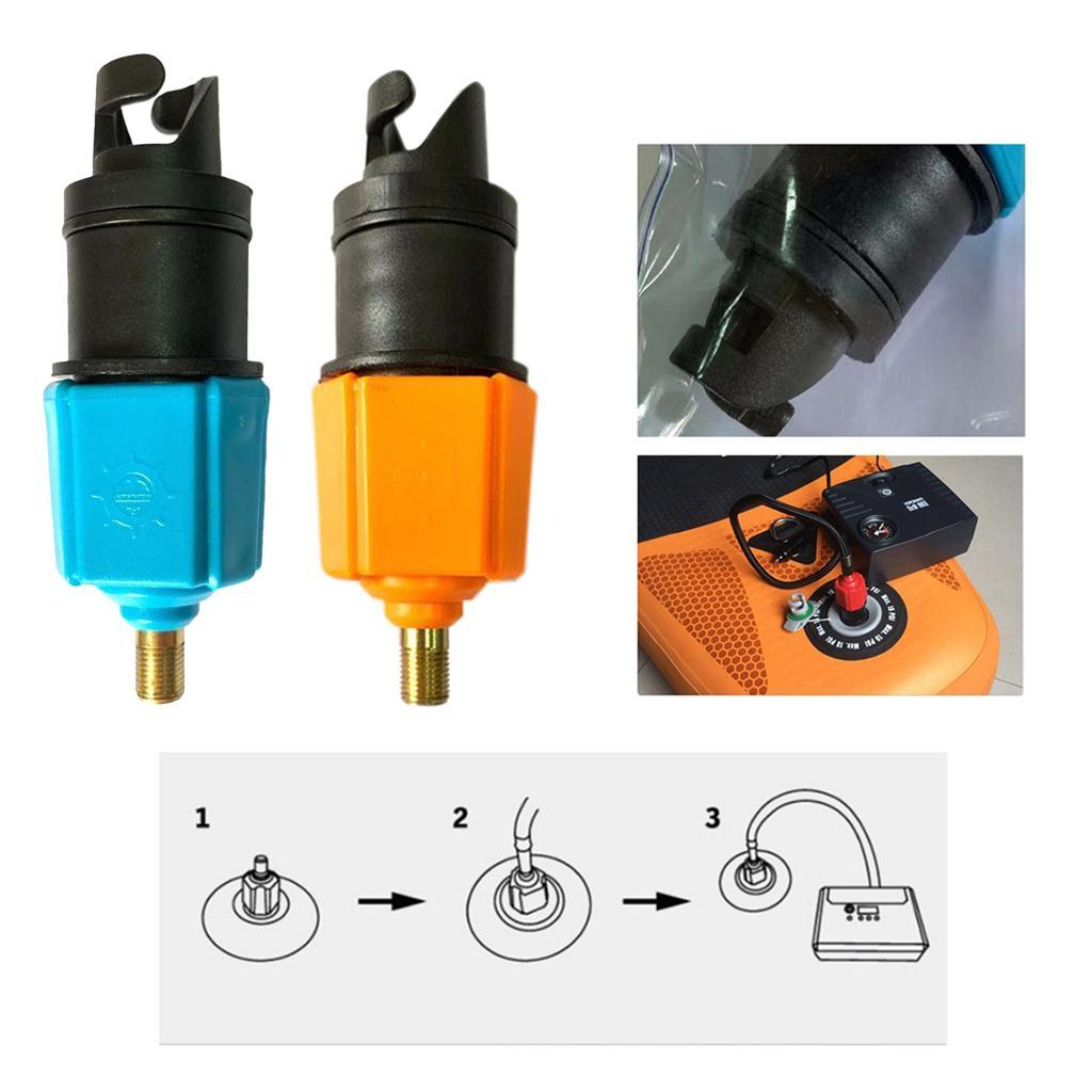 Sup//Kayak //Rubber Boat Inflatable Pump Adapter Air Valve Tire Compressor Adaptor
