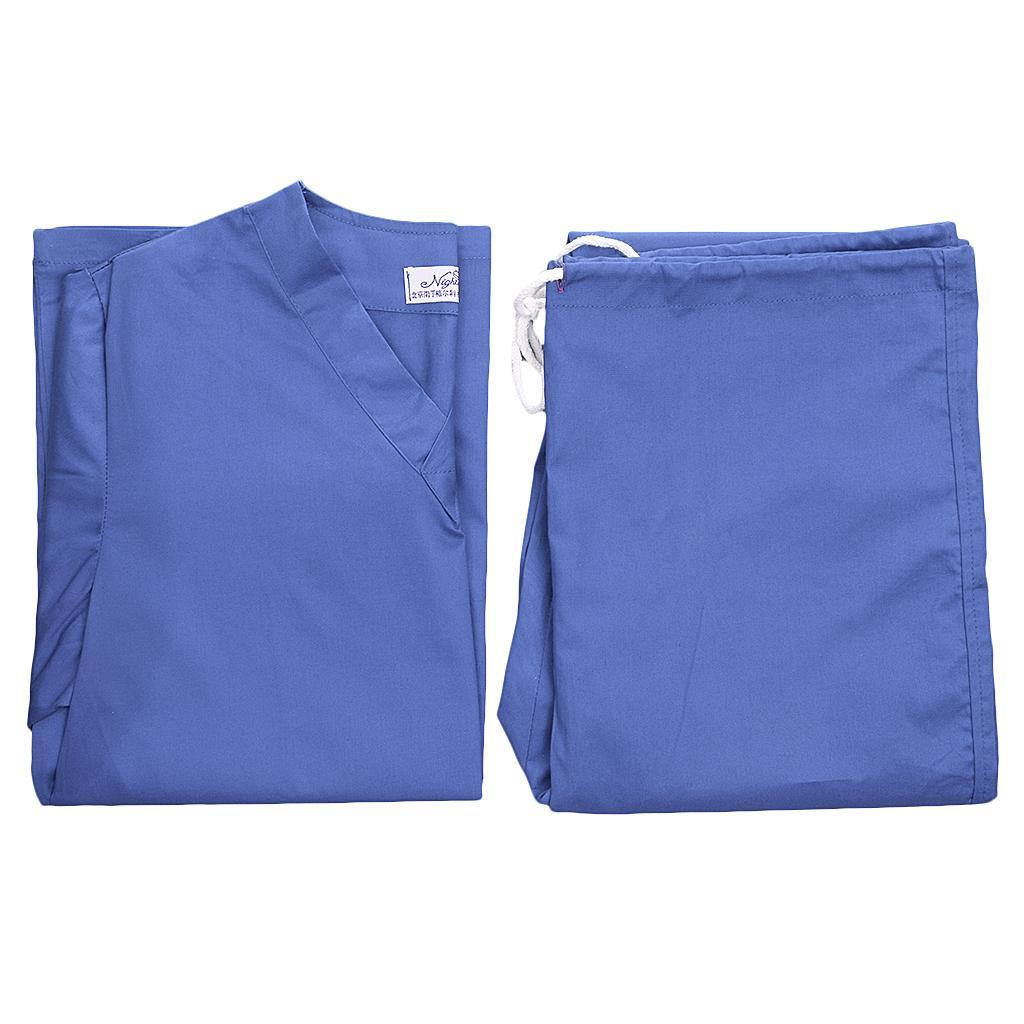 Men-Women-Scrub-Sets-Medical-Spa-Nursing-Clinic-Hospital-Uniform-Top-Pants miniature 25