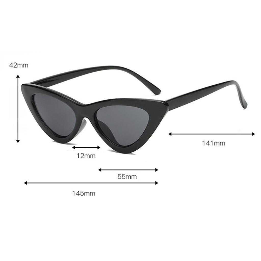 2er-Pack-Frauen-Vintage-Dreieck-Verspiegelte-Sonnenbrille-Brillen-Designer Indexbild 13