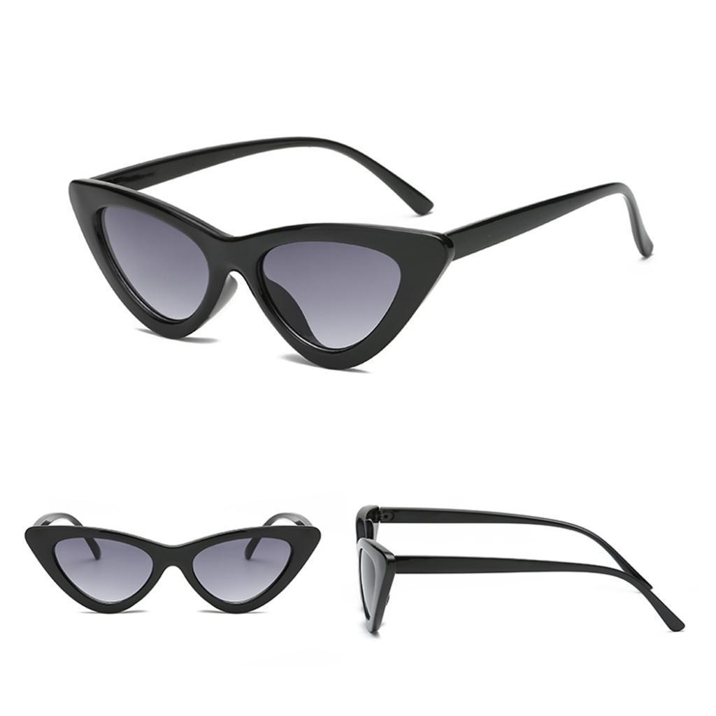 2er-Pack-Frauen-Vintage-Dreieck-Verspiegelte-Sonnenbrille-Brillen-Designer Indexbild 3