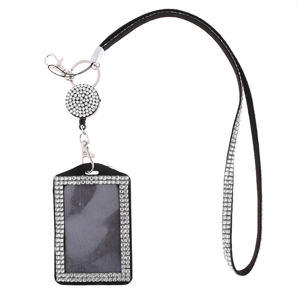 Lanière Sparkle avec Porte-badge D'identification Vertical à Rétractable -