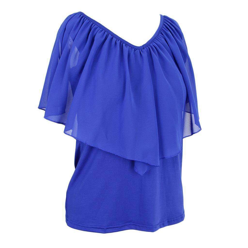 Women-039-s-Casual-Summer-Cold-Shoulder-Cotton-T-shirt-Batwing-Sleeve-Loose-Tops thumbnail 7