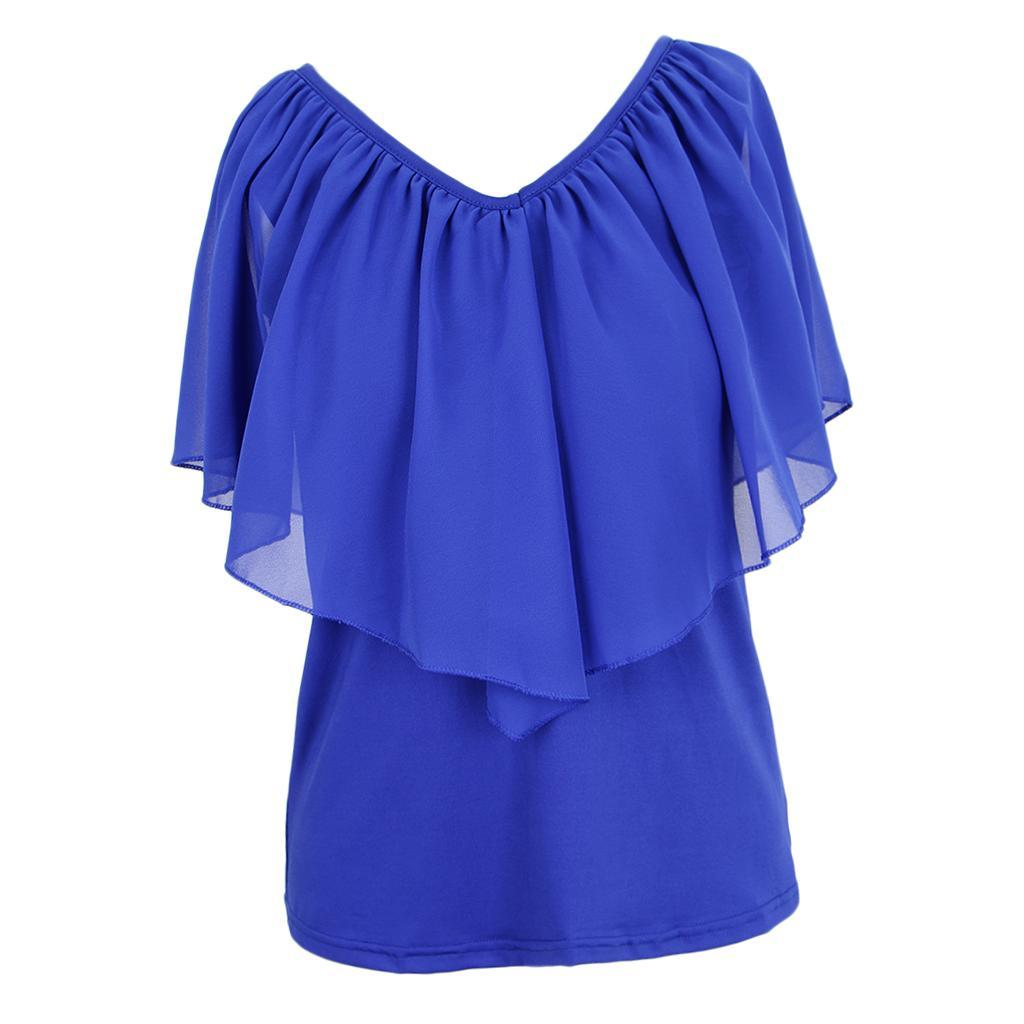 Women-039-s-Casual-Summer-Cold-Shoulder-Cotton-T-shirt-Batwing-Sleeve-Loose-Tops thumbnail 8
