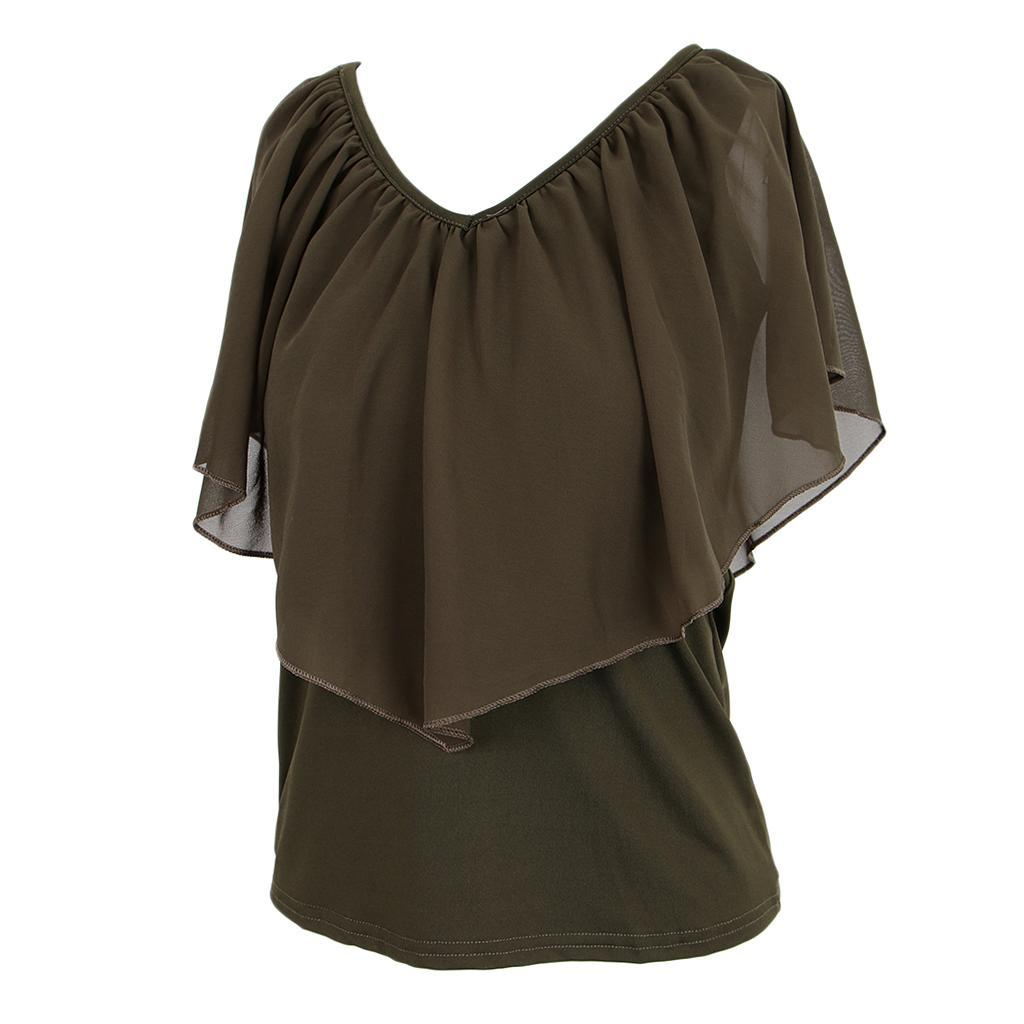 Women-039-s-Casual-Summer-Cold-Shoulder-Cotton-T-shirt-Batwing-Sleeve-Loose-Tops thumbnail 32