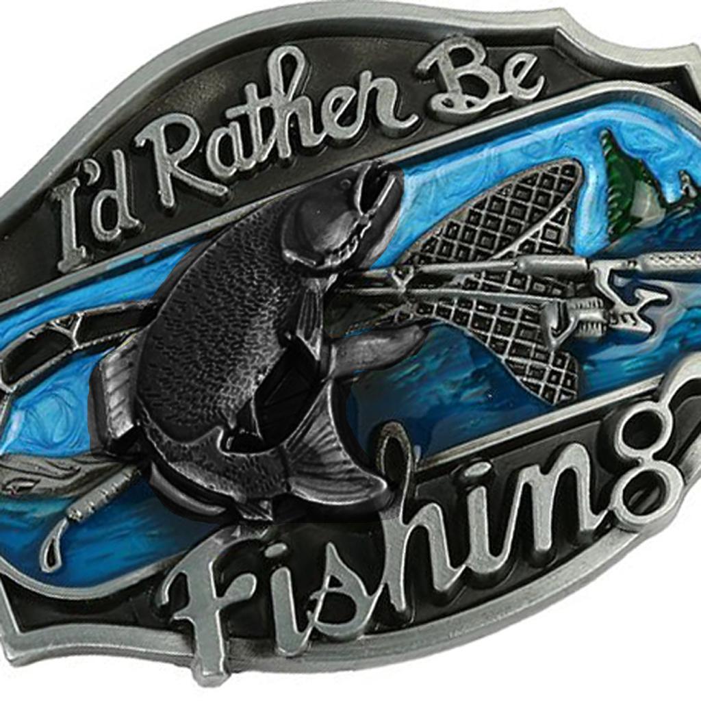 Klassische Seefischer Gürtels chnalle Cool Ornament Charm Design Schnalle