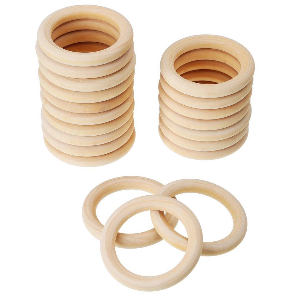 20Pcs-Multifunction-DIY-Teether-Rings-Wooden-Teething-Rings-for-Toddler-Toys thumbnail 16
