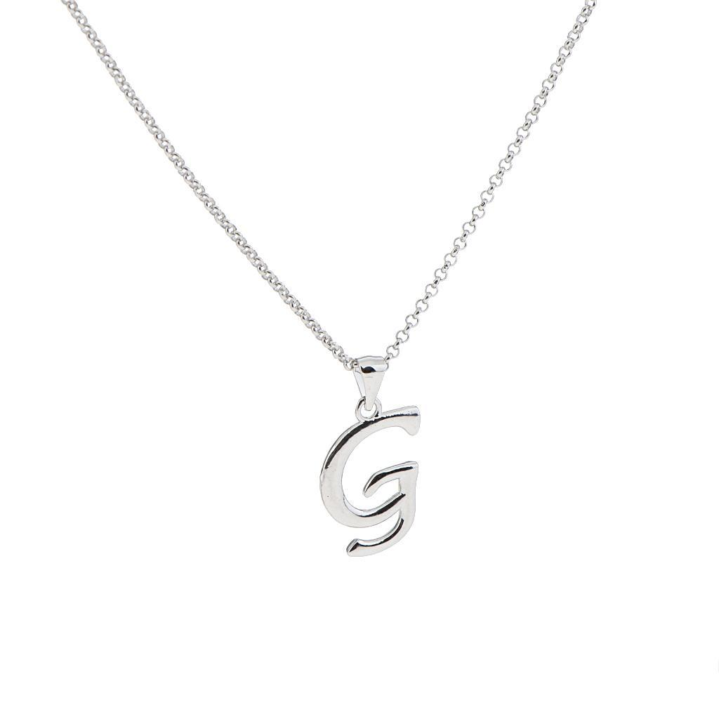 A-Z-Alphabet-Initial-Letter-Pendant-Necklace-Chain-Choker-Jewelry-Men-Women thumbnail 25