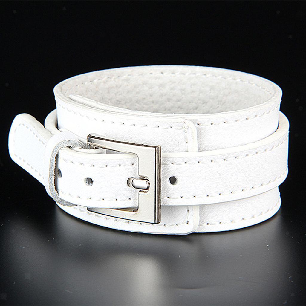 Indexbild 10 - Modeschmuck Pu Kuh Leder Breite Stulpe Armband Snap Armreif Für Männer Frauen