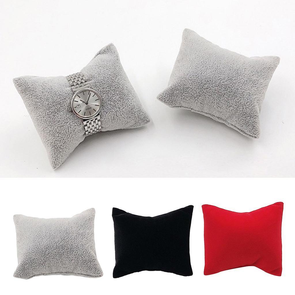 thumbnail 3 - Velvet Jewelry Display Pillow 8x7cm Mini Cushion Holder For Precious Watches